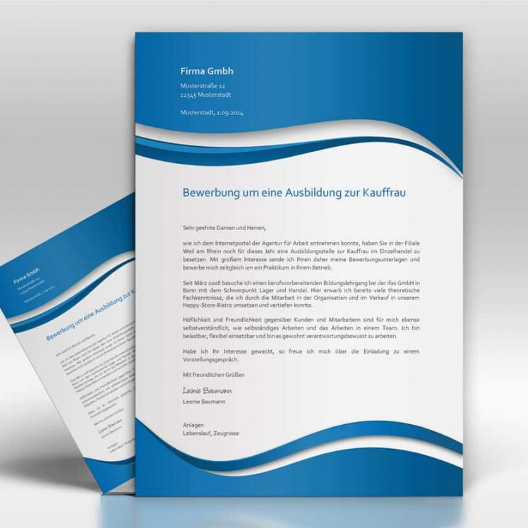 Bewerbungsschreiben Anschreiben - TopDesign24
