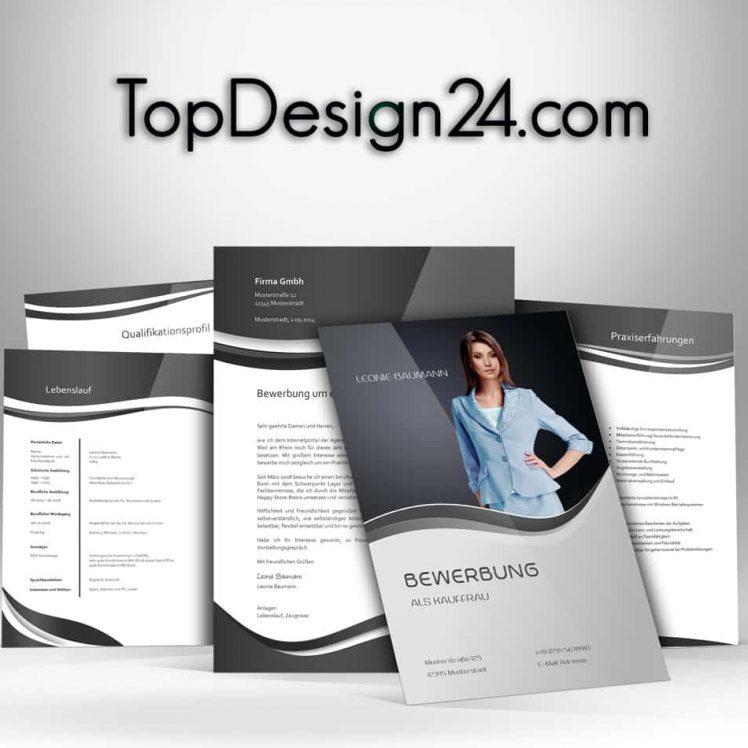 Bewerbungsvorlagen - Schwarz - TopDesign24