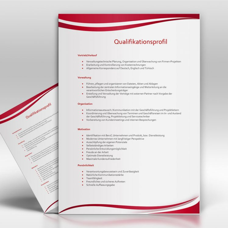 Qualifikationsprofil - TopDesign24 - Musterbewerbung