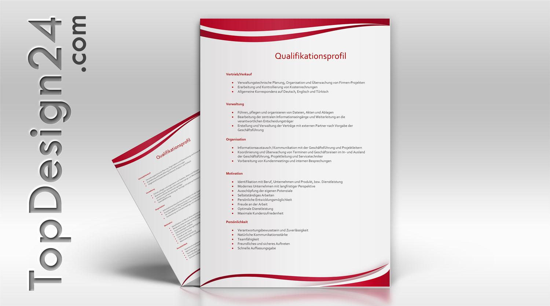 qualifikationsprofil topdesign24 musterbewerbung - Qualifikationsprofil Muster