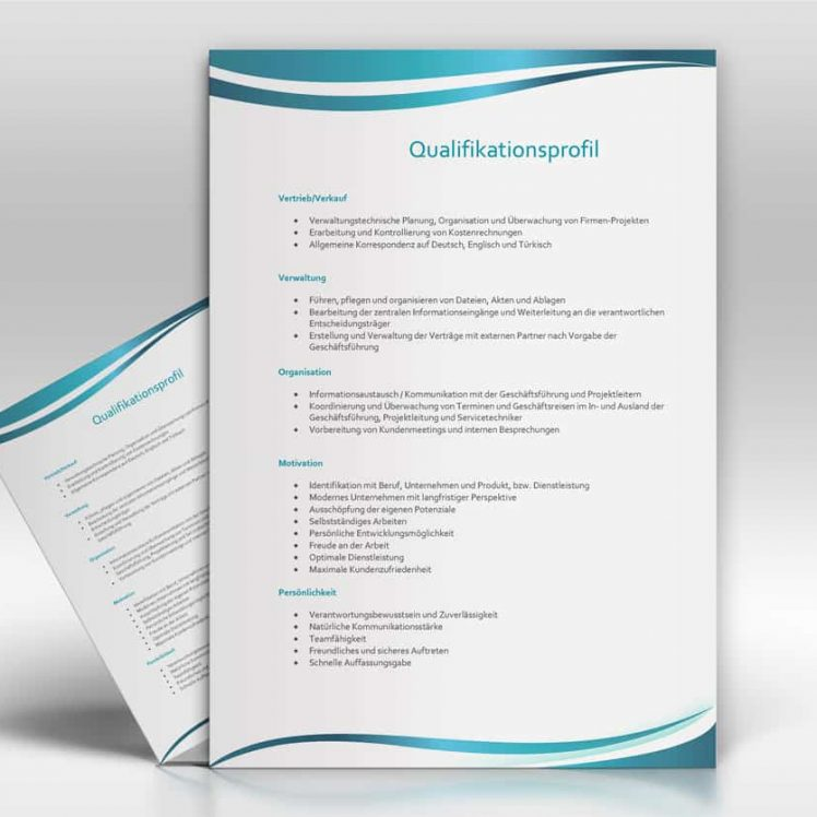 Qualifikationsprofil - TopDesign24