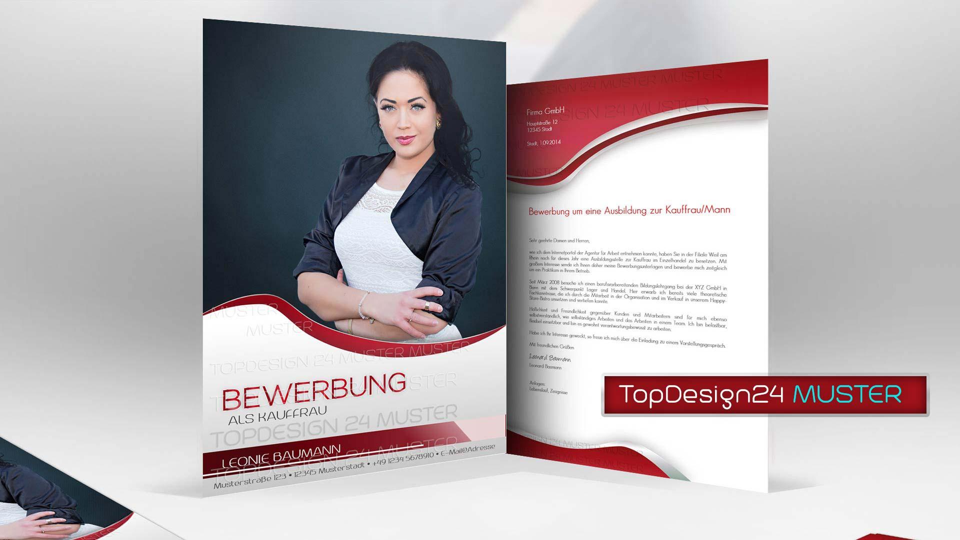 Bewerbungsdesign 2 Rot Topdesign24