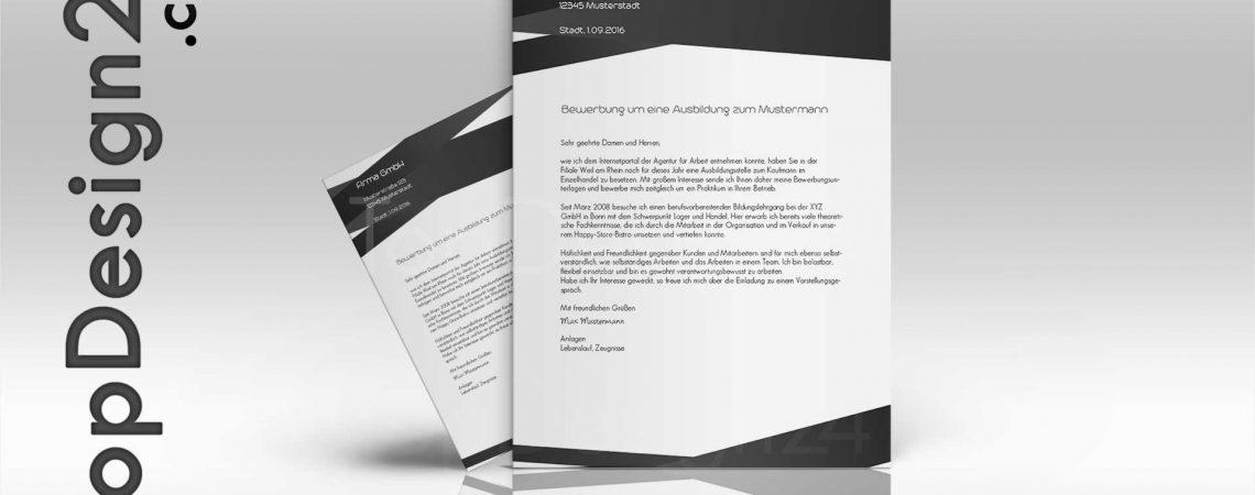 Bewerbung Design Vorlage Topdesign24 Deckblatt Leben