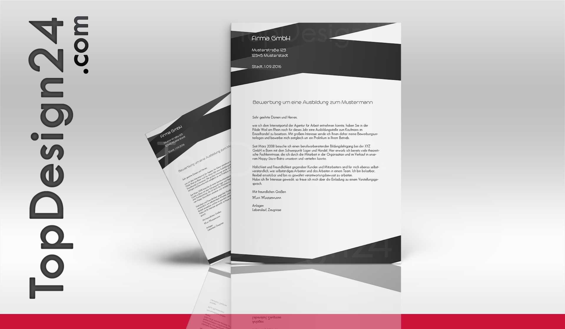 Bewerbung Deckblatt Design, Bewerbung Muster Bewerbungsschreiben