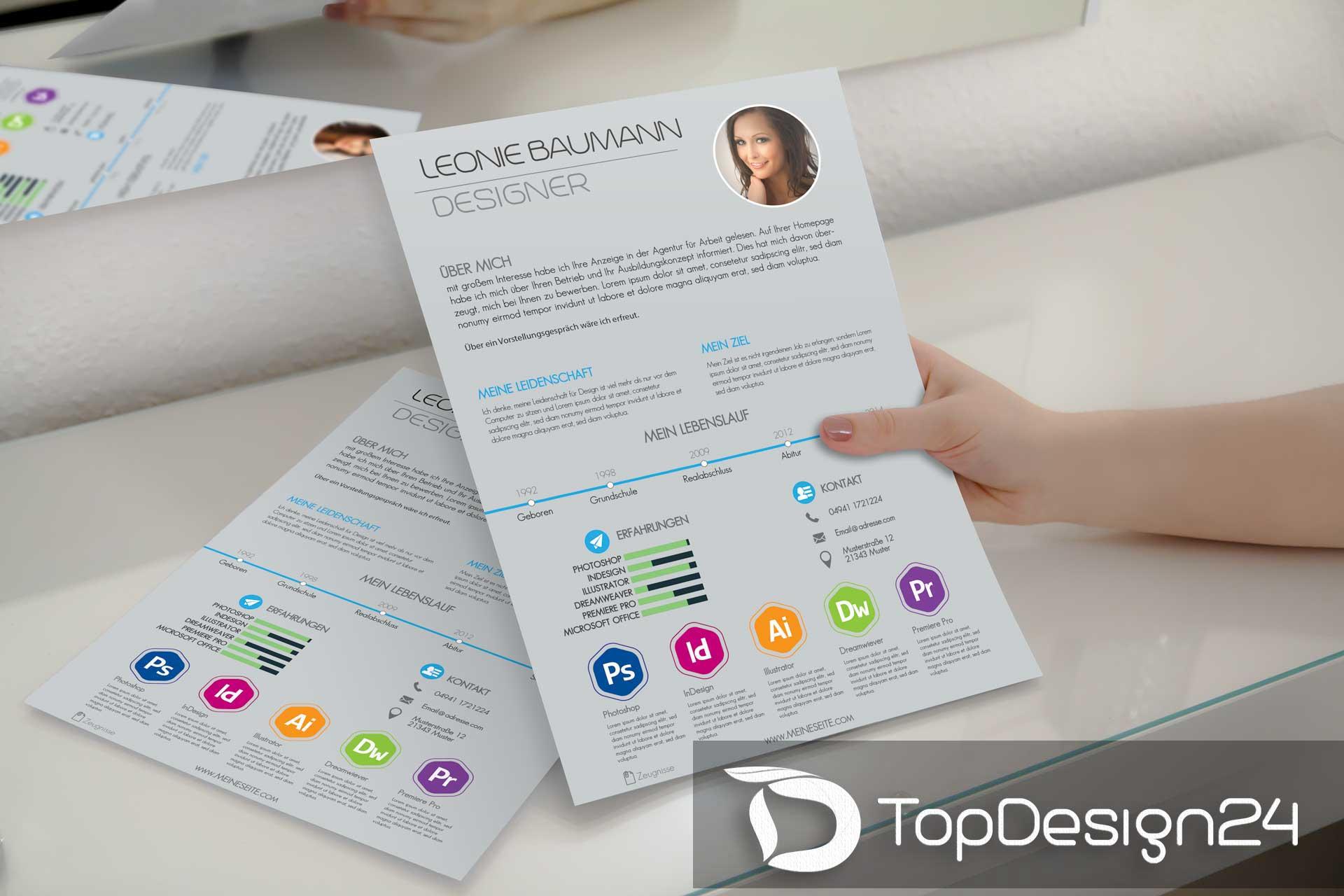 Email Bewerbung Design Deckblatt