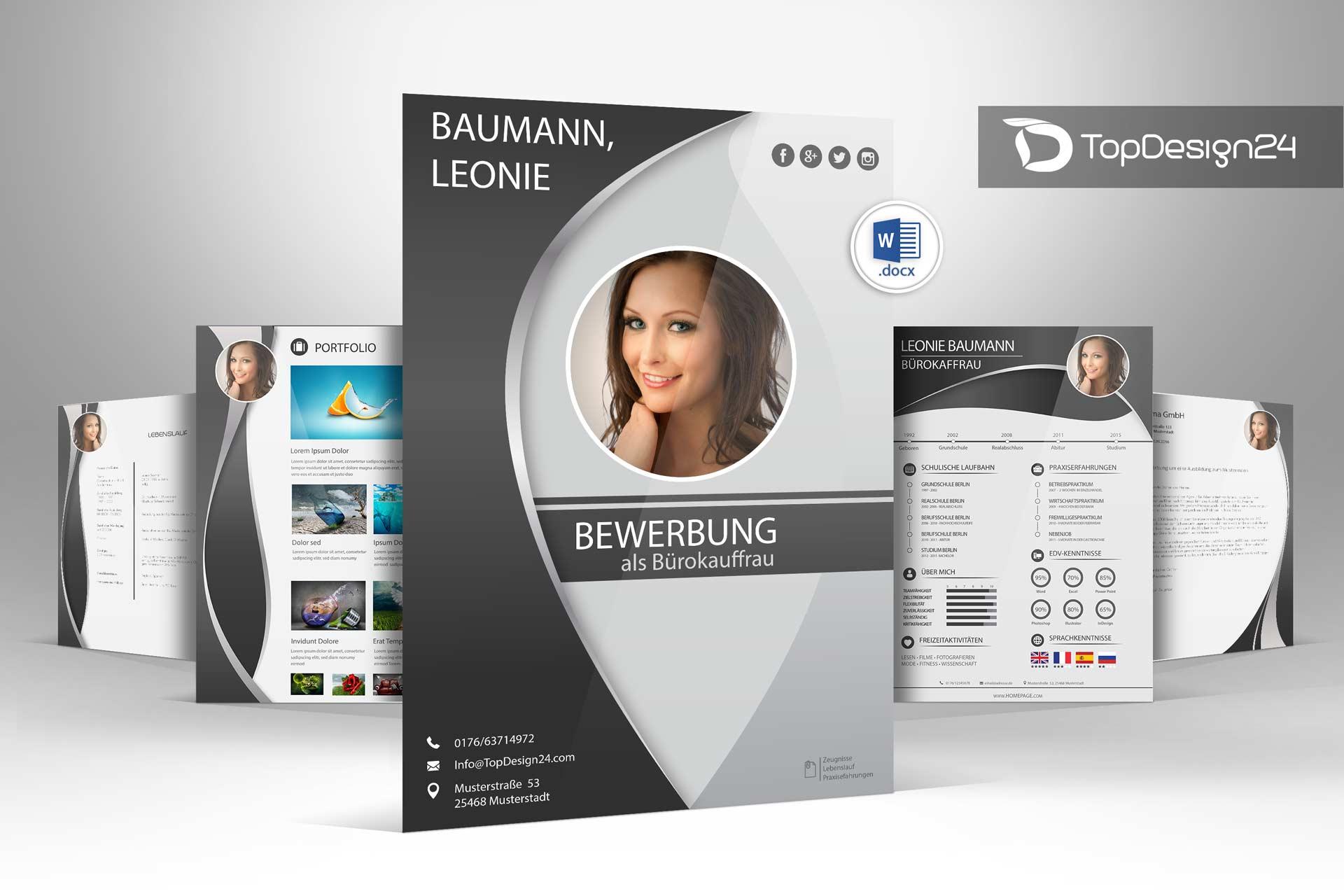 Bewerbung deckblatt kreativ vorlagen topdesign24 for Foto designer