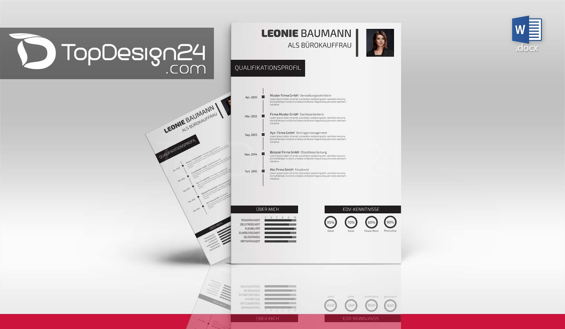 bewerbung design word dowload - Qualifikationsprofil Muster