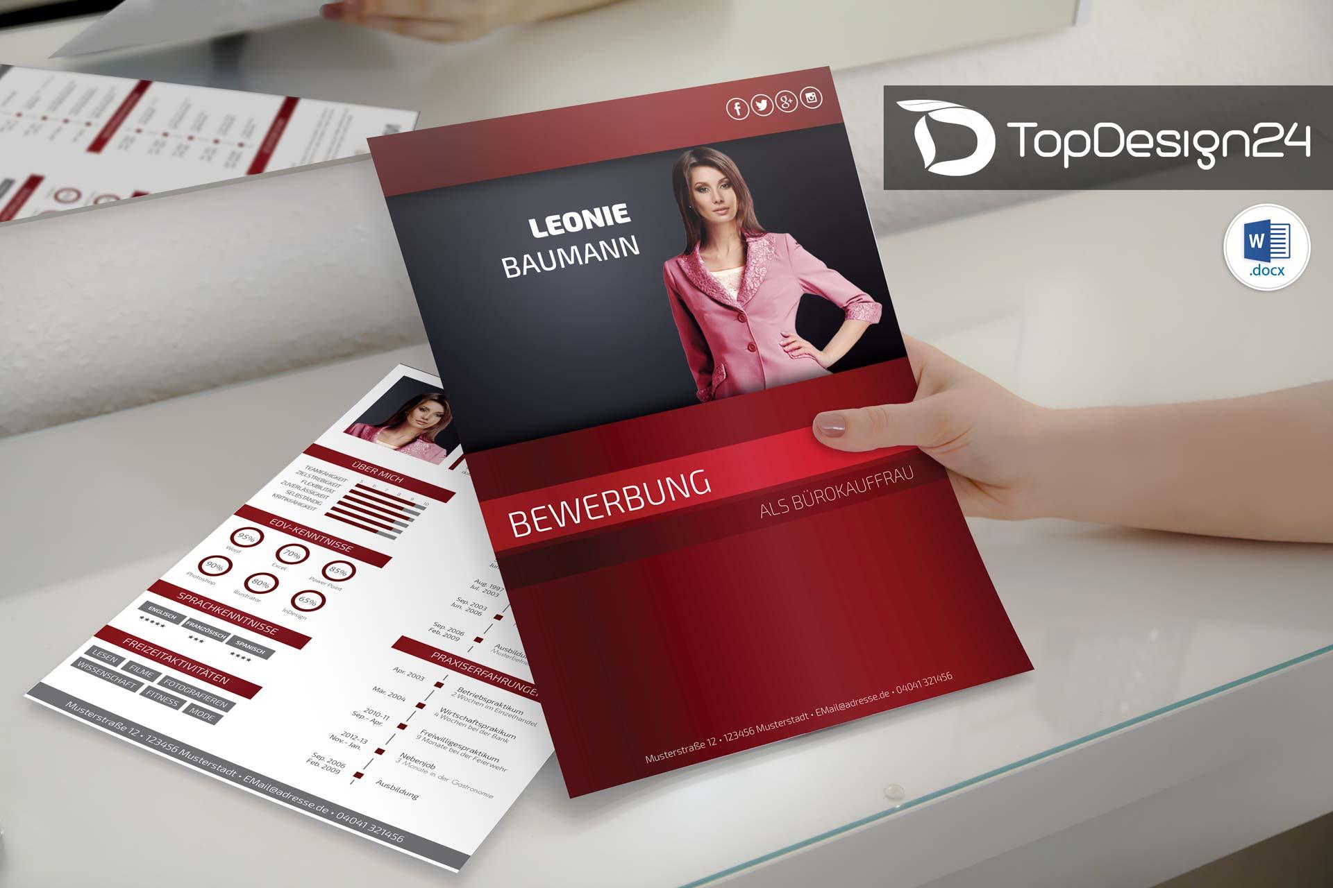 Deckblatt design bewerbung topdesign24 for Spiegel titelblatt