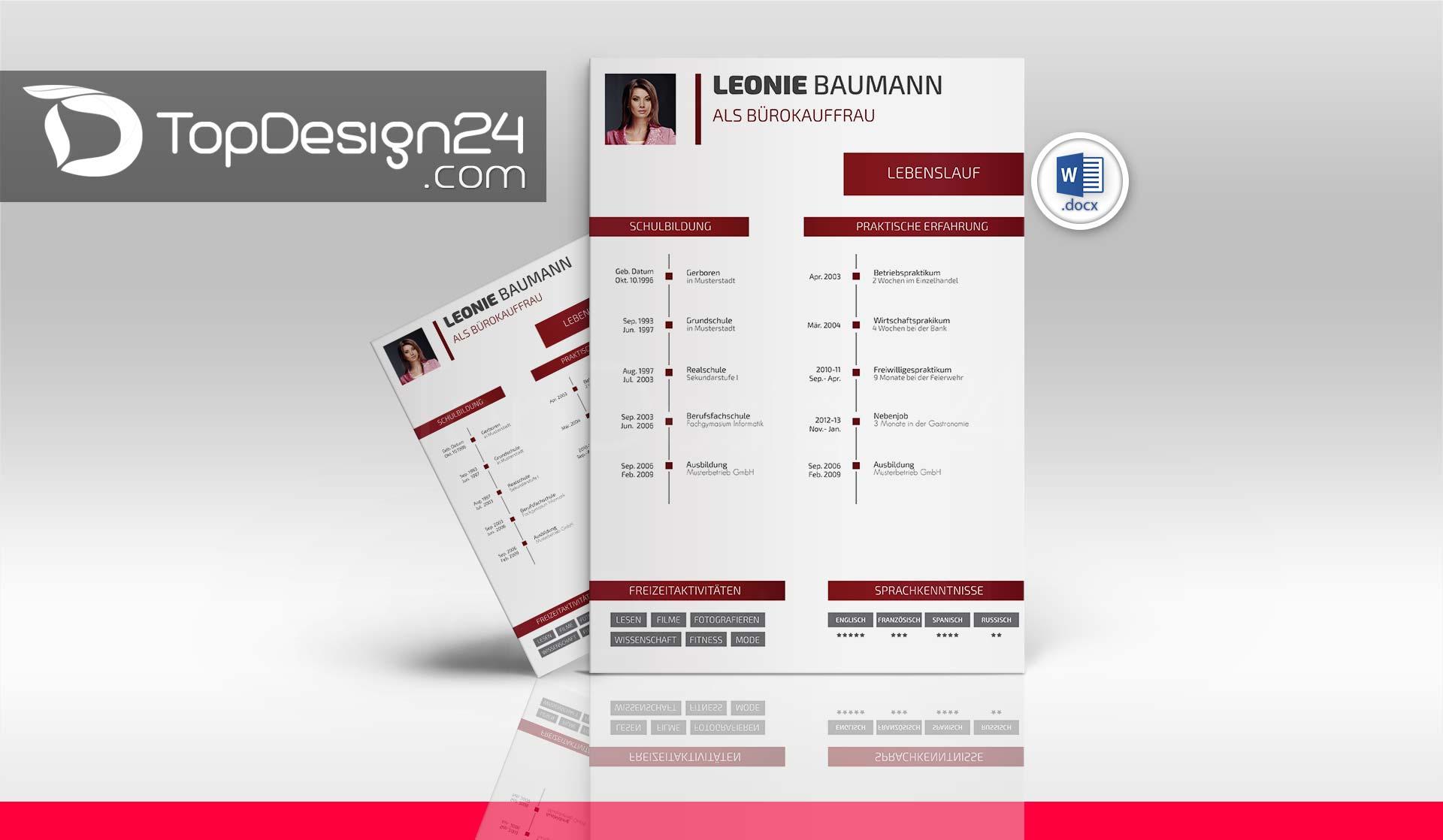Online Bewerbung Muster Topdesign24