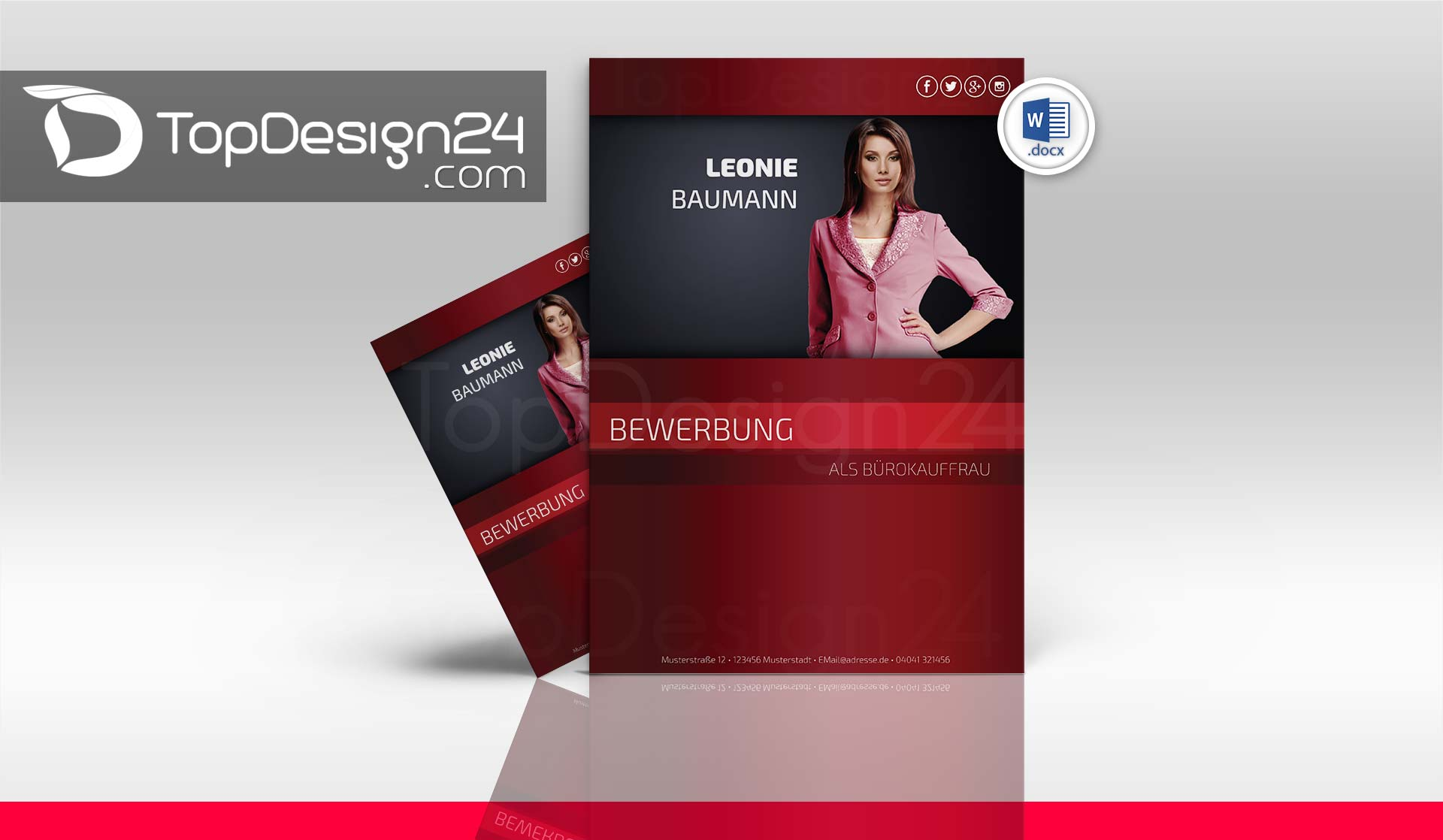 Online Bewerbung Muster Topdesign24