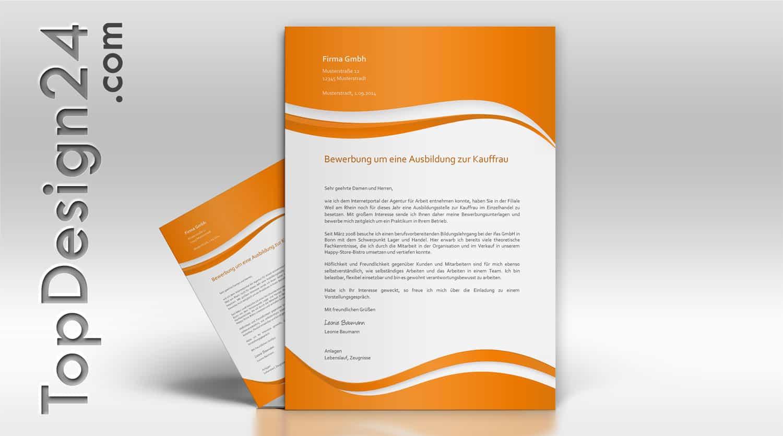 Bewerbungsanschreiben Beispiel -TopDesign24- Vorlagen