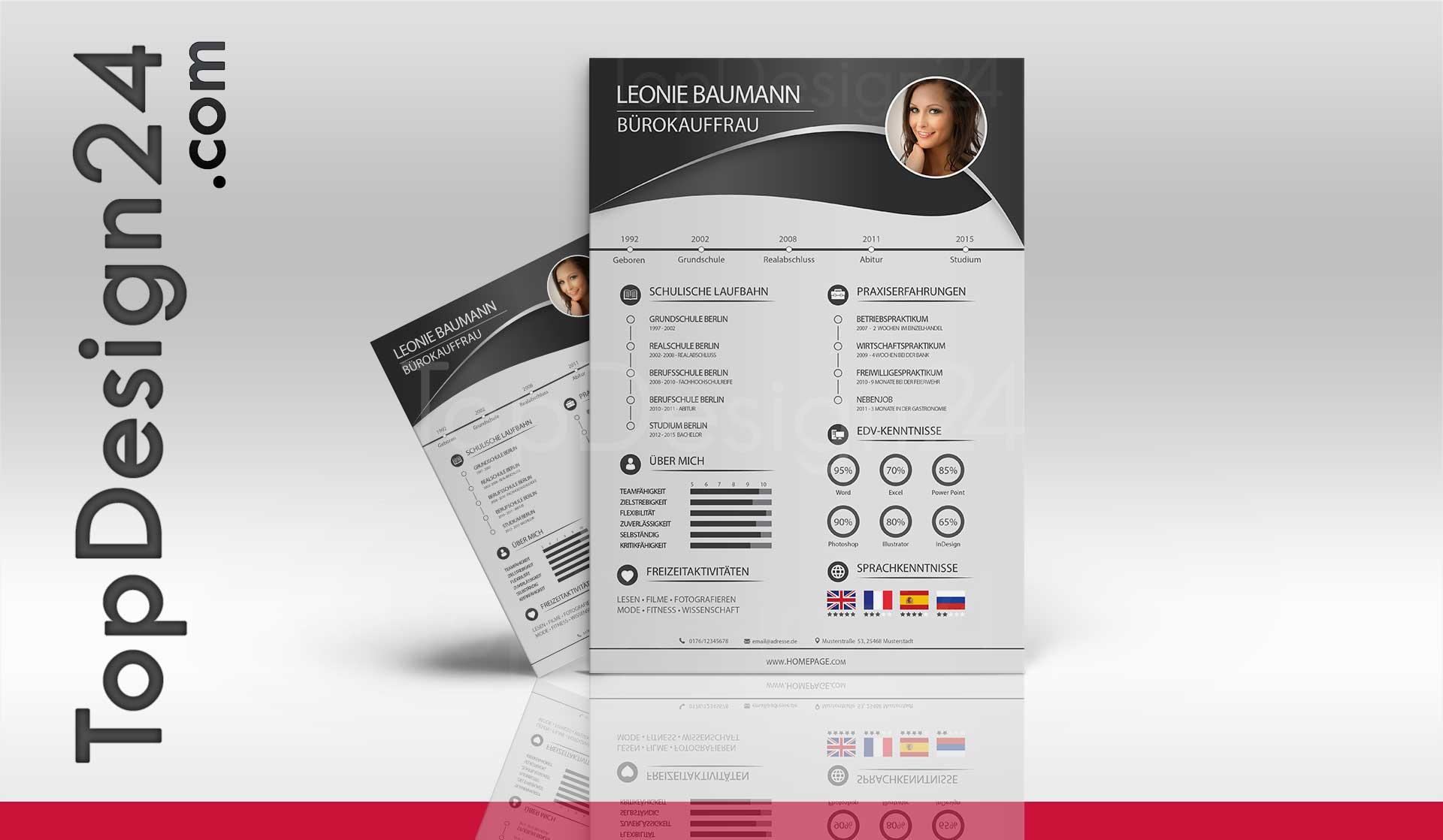 Praktikumsbewerbung Muster -TopDesign24-Ausbildung-Job