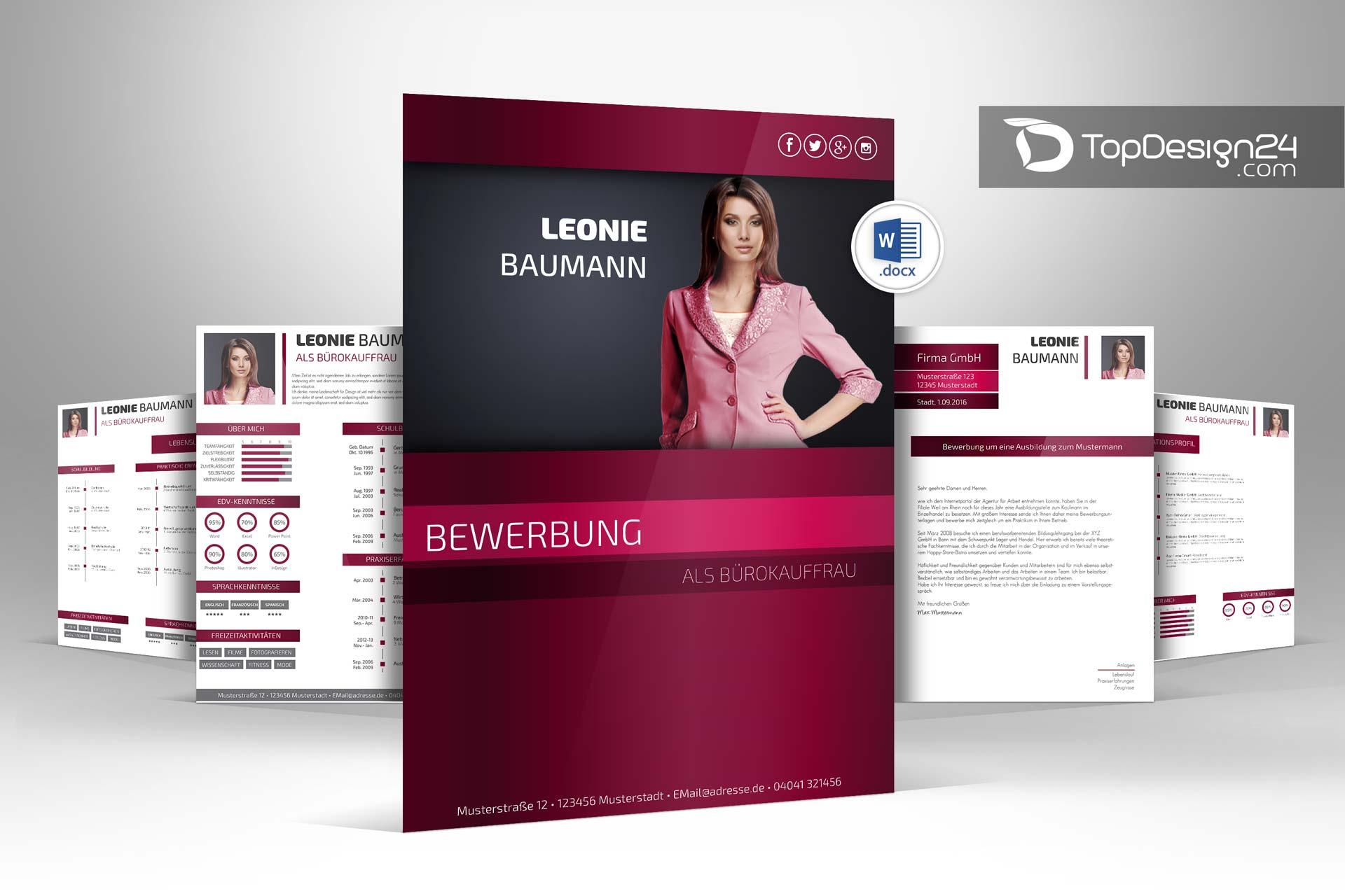 Bewerbung deckblatt modern topdesign24 bewerbungen for Best catalog design 2016