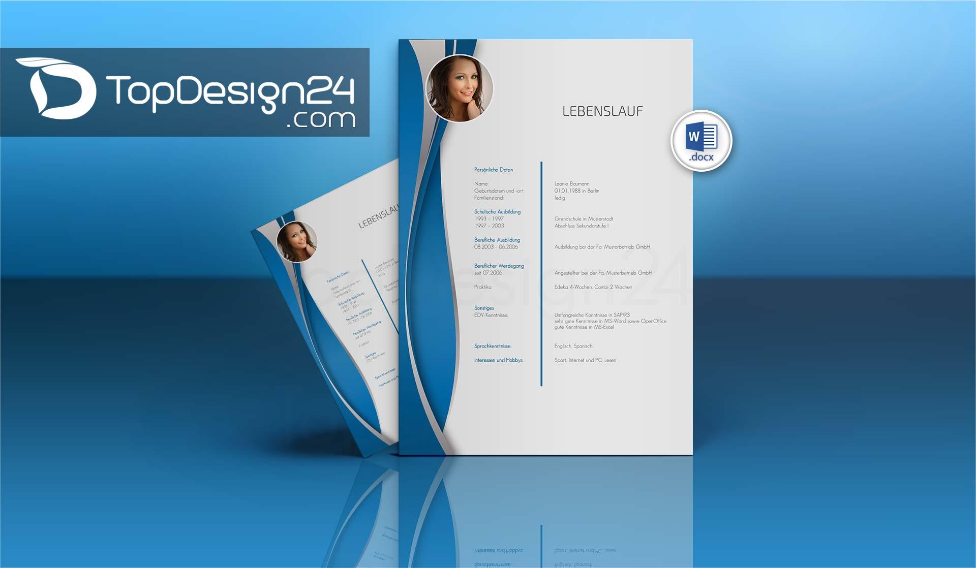 bewerbung layout topdesign24 bewerbungsvorlagen