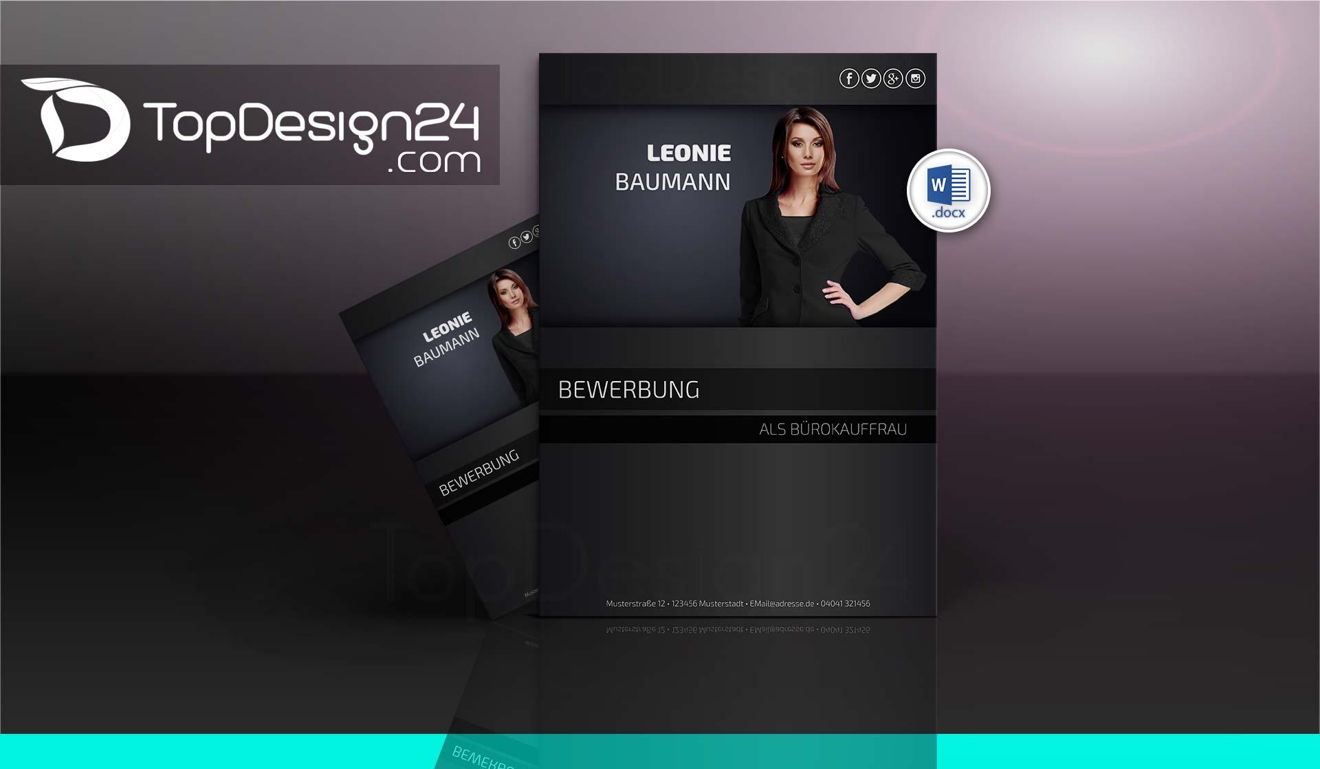 Bewerbungslayout Topdesign24 Bewerbungsvorlagen