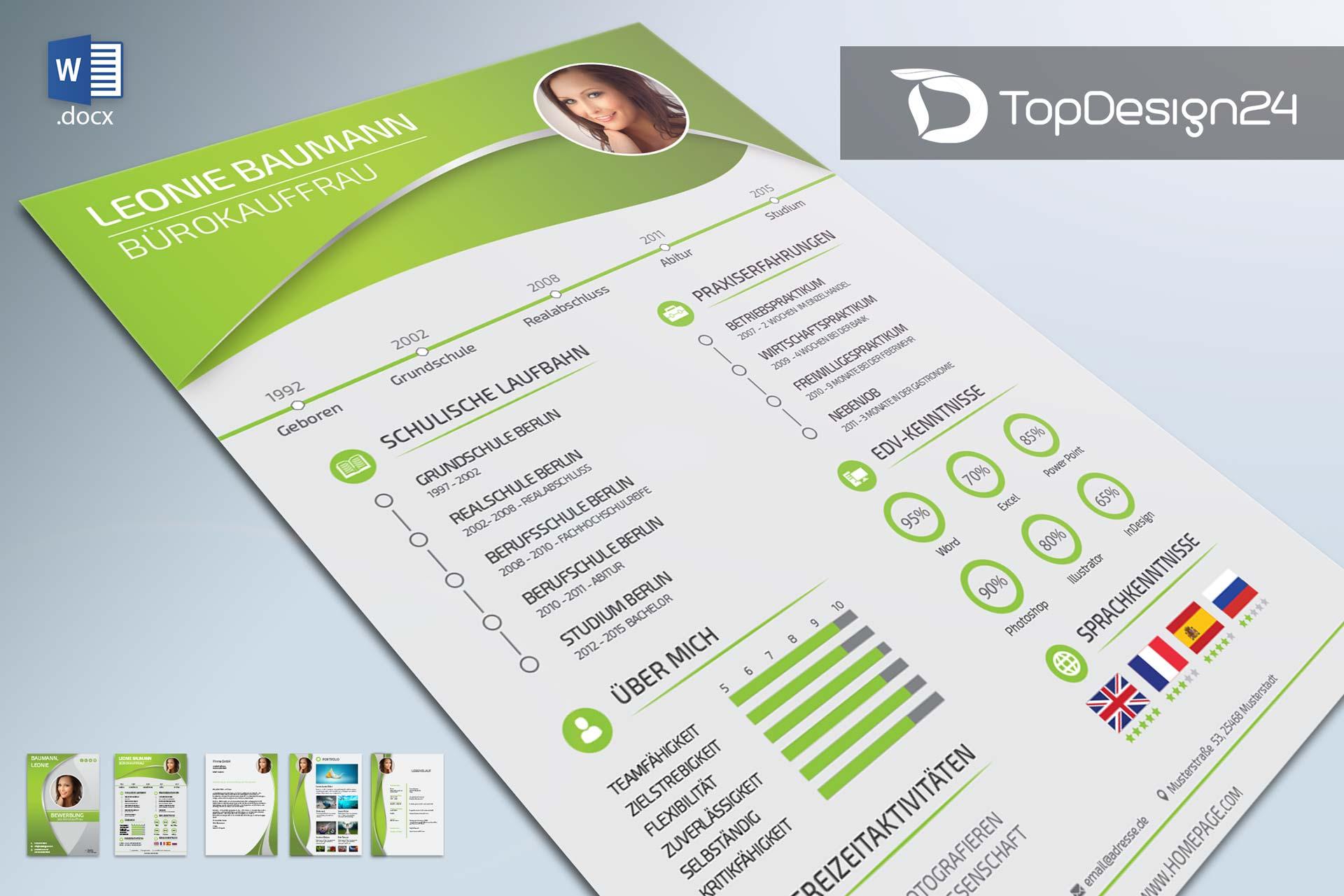 Bewerbung 2016 Topdesign24 Bewerbungsvorlagen
