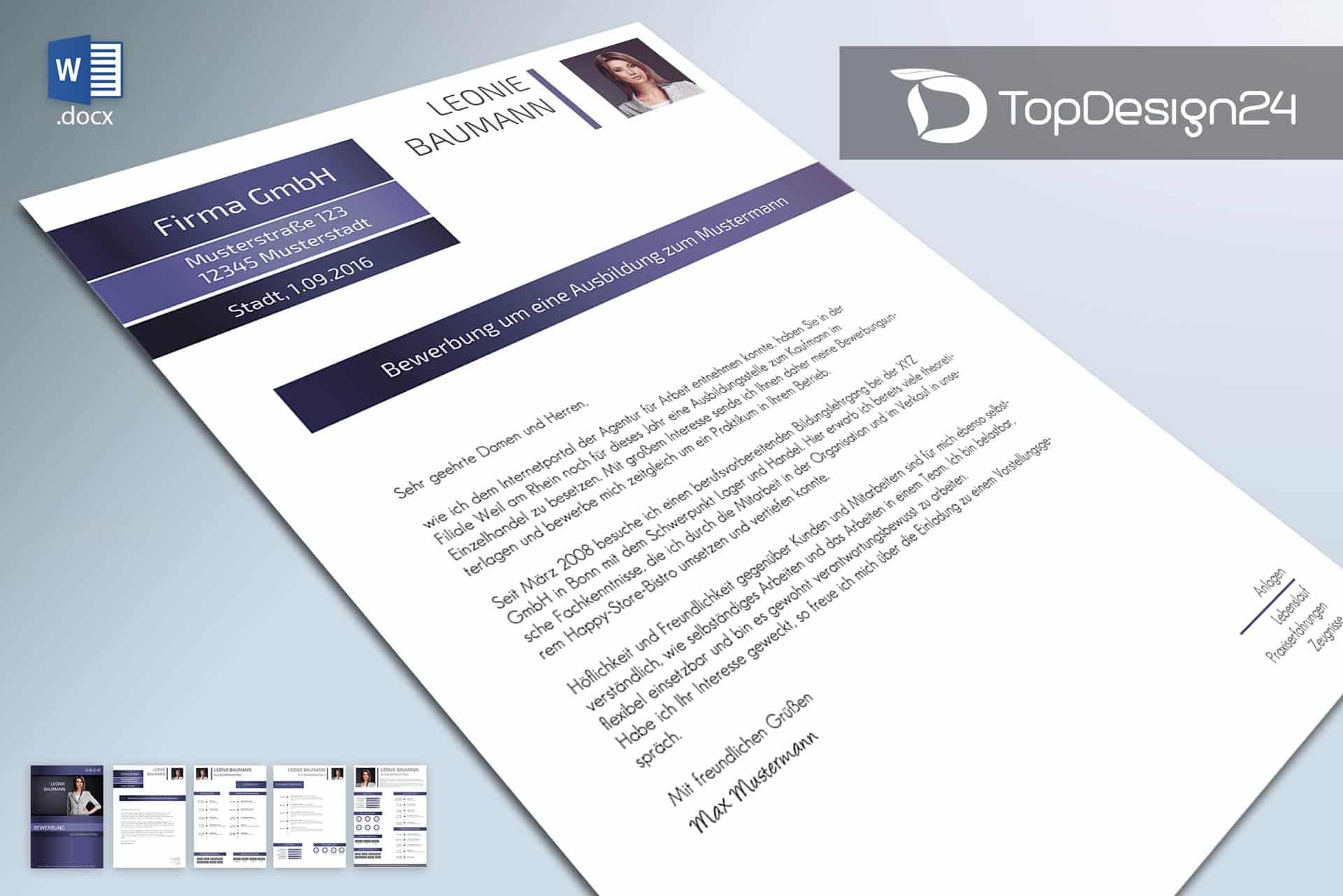 Initiativbewerbung Muster 2016 Topdesign24 Bewerbungsvorlagen