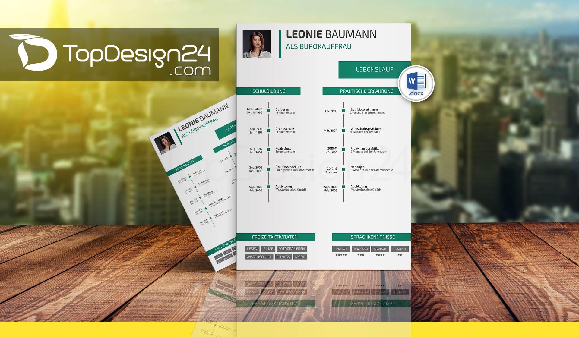 Layout Deckblatt Bewerbung TopDesign24 Bewerbungsvorlagen