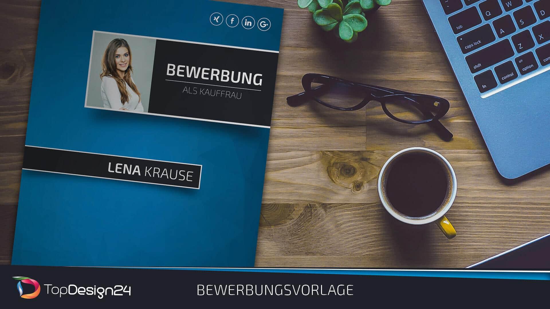 Lebenslauf Design 2018 - TopDesign24 Bewerbungsvorlage Word 2018