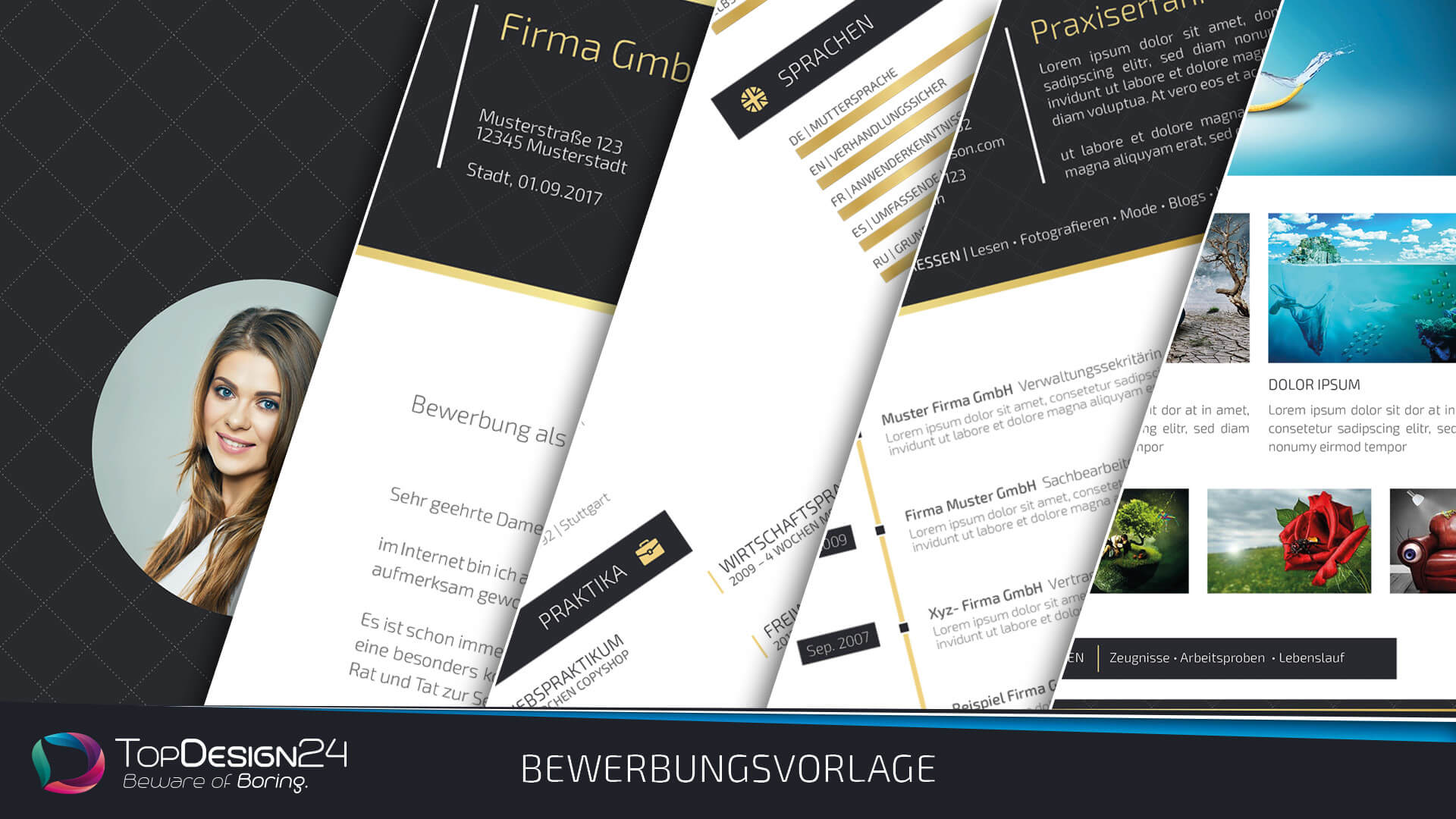 Kreative Bewerbung Indesign Downloaden 2