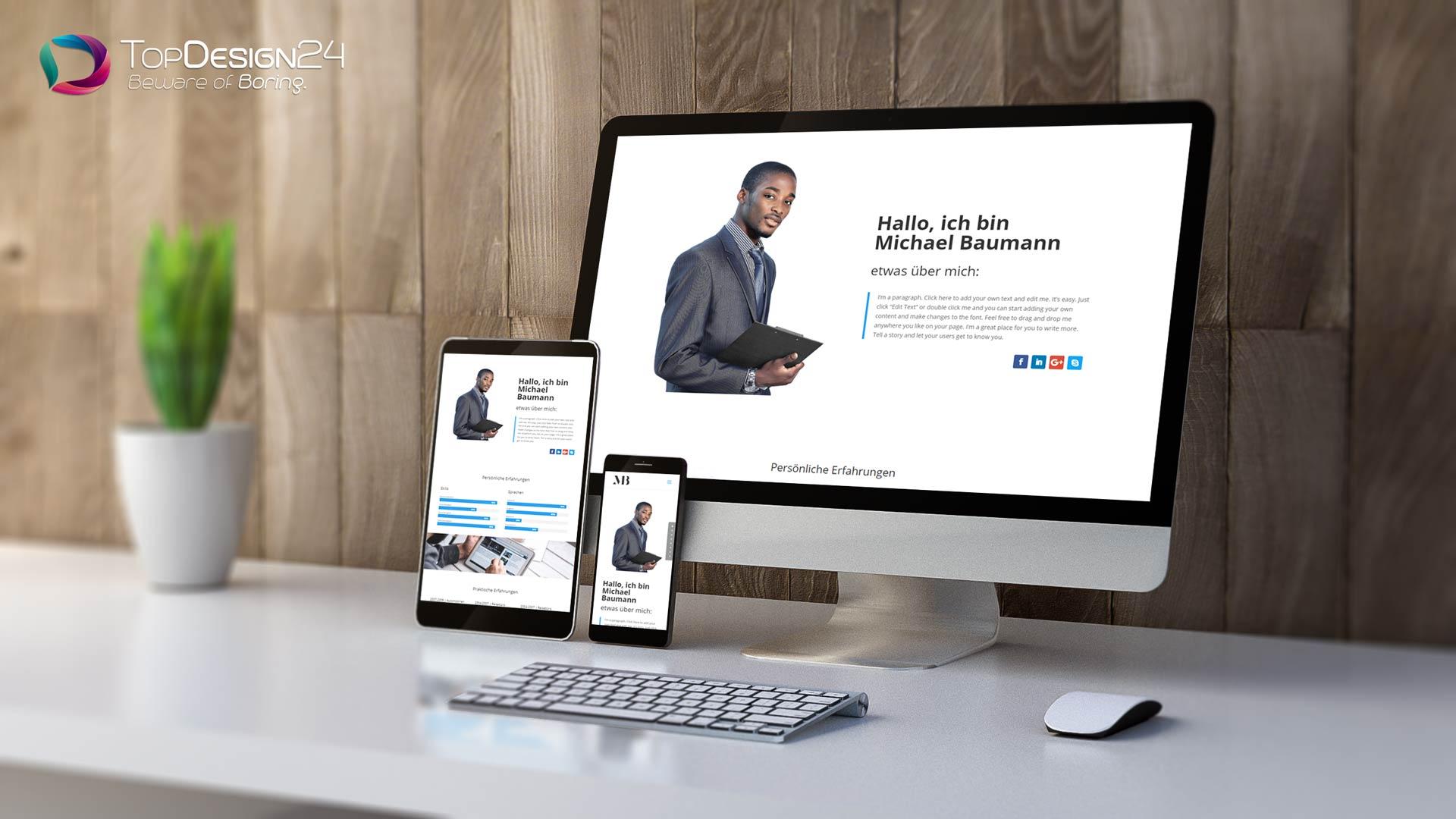bewerbungshomepage-Topdesign24